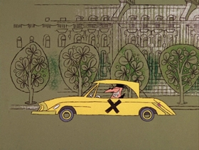 Screenshots from the 1966 DePatie Freleng cartoon Plastered in Paris
