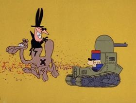 Screenshots from the 1966 DePatie Freleng cartoon Plastered in Paris