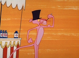 Screenshots from the 1966 DePatie Freleng cartoon Vitamin Pink
