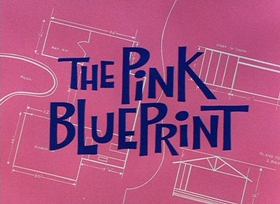 Screenshots from the 1966 DePatie Freleng cartoon The Pink Blueprint