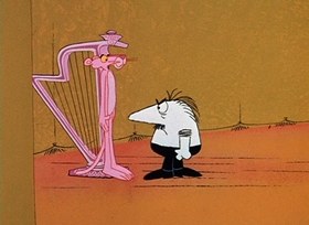 Screenshots from the 1966 DePatie Freleng cartoon Pink, Plunk, Plink