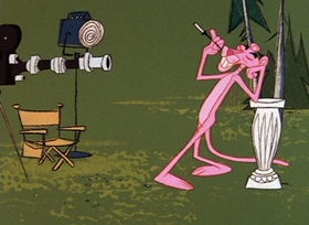 Screenshots from the 1966 DePatie Freleng cartoon Smile Pretty, Say Pink