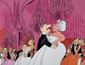 Screenshots from the 1966 DePatie Freleng cartoon Cock-A-Doodle Deux-Deux