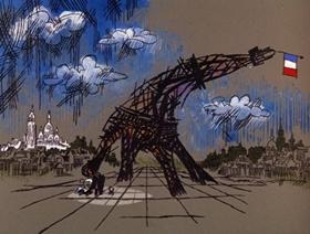 Screenshots from the 1966 DePatie Freleng cartoon The Pique Poquette of Paris