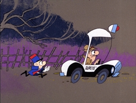Screenshots from the 1966 DePatie Freleng cartoon Sicque! Sicque! Sicque!