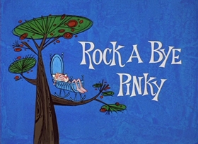 Screenshots from the 1966 DePatie Freleng cartoon Rock A Bye Pinky
