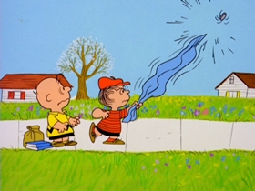 Screenshots from the 1967 Bill Melendez Productions cartoon You