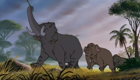 Screenshots from the 1967 Disney cartoon The Jungle Book
