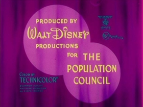Screenshots from the 1967 Disney cartoon Family Planning