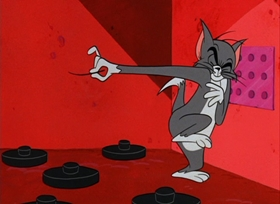 Screenshots from the 1967 MGM cartoon The Mouse from H.U.N.G.E.R.
