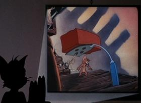 Screenshots from the 1967 MGM cartoon Shutter Bugged Cat