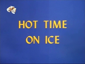 Screenshots from the 1967 Walter Lantz cartoon Hot Time On Ice