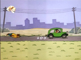 Screenshots from the 1967 Walter Lantz cartoon Mouse In The House
