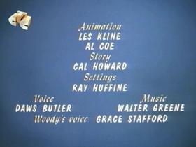 Screenshots from the 1967 Walter Lantz cartoon Horse Play