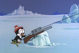 Screenshots from the 1967 Walter Lantz cartoon Chilly Chums