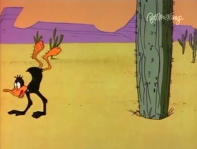 Screenshots from the 1967 Warner Brothers cartoon Daffy