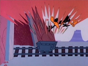 Screenshots from the 1967 Warner Brothers cartoon Speedy Ghost to Town
