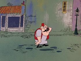 Screenshots from the 1967 DePatie Freleng cartoon Sacre Bleu Cross