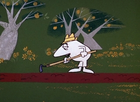 Screenshots from the 1967 DePatie Freleng cartoon Pink Posies