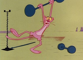 Screenshots from the 1967 DePatie Freleng cartoon In the Pink