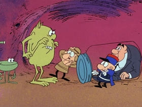 Screenshots from the 1967 DePatie Freleng cartoon Bomb Voyage