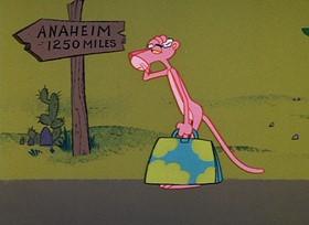 Screenshots from the 1967 DePatie Freleng cartoon Pinto Pink