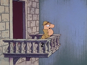Screenshots from the 1967 DePatie Freleng cartoon Crow DeGuerre