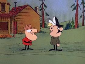 Screenshots from the 1967 DePatie Freleng cartoon Canadian Can-Can