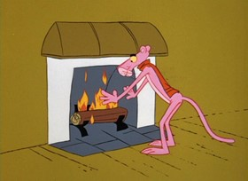 Screenshots from the 1967 DePatie Freleng cartoon The Hand is Pinker than the Eye
