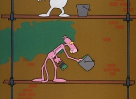 Screenshots from the 1967 DePatie Freleng cartoon Pink Outs