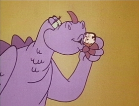 Screenshots from the 1968 Hanna-Barbera cartoon Gadzooka