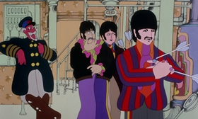 Screenshots from the 1968 King Features Productions cartoon Yellow Submarine