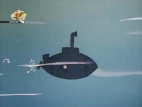 Screenshots from the 1968 Walter Lantz cartoon Undersea Dogs