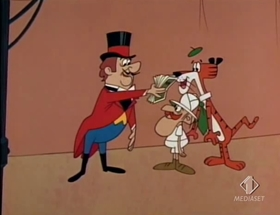 Screenshots from the 1968 Warner Brothers cartoon 3 Ring Wing Ding