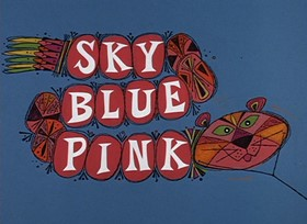 Screenshots from the 1968 DePatie Freleng cartoon Sky Blue Pink