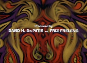 Screenshots from the 1968 DePatie Freleng cartoon Psychedelic Pink