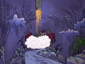 Screenshots from the 1968 DePatie Freleng cartoon Transylvania Mania