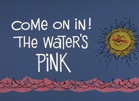 Screenshots from the 1968 DePatie Freleng cartoon Come on In! The Water