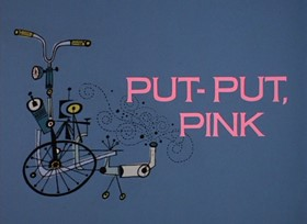 Screenshots from the 1968 DePatie Freleng cartoon Put-Put, Pink