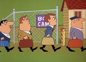 Screenshots from the 1968 DePatie Freleng cartoon G.I. Pink