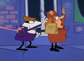 Screenshots from the 1968 DePatie Freleng cartoon Lucky Pink
