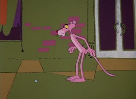 Screenshots from the 1968 DePatie Freleng cartoon The Pink Quarterback
