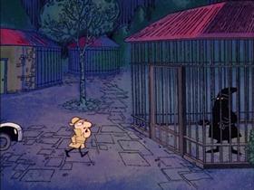 Screenshots from the 1968 DePatie Freleng cartoon Cherche Le Phantom