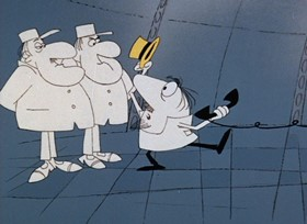 Screenshots from the 1968 DePatie Freleng cartoon Twinkle, Twinkle Little Pink
