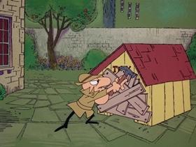 Screenshots from the 1968 DePatie Freleng cartoon Le Great Dane Robbery