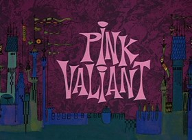 Screenshots from the 1968 DePatie Freleng cartoon Pink Valiant