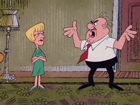 Screenshots from the 1968 DePatie Freleng cartoon Le Ball and Chain Gang
