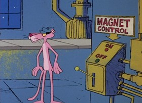 Screenshots from the 1968 DePatie Freleng cartoon Pink in the Clink