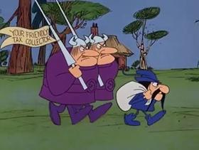 Screenshots from the 1968 DePatie Freleng cartoon Pinkcome Tax