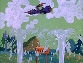 Screenshots from the 1968 Hanna-Barbera cartoon Beat the Clock to Yellow Rock